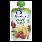 Gerber Organic 2nd Foods Peras Duraznos & Frutillas